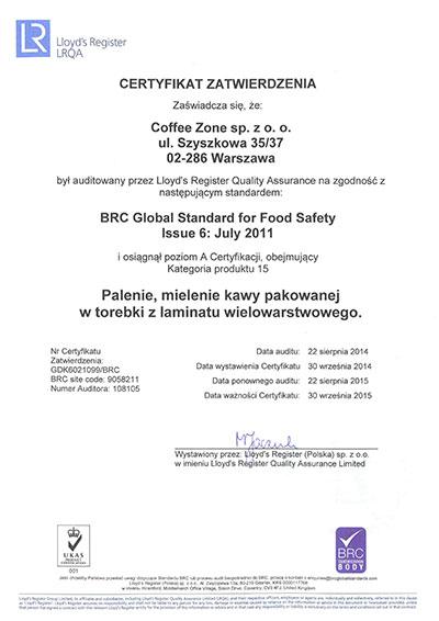 Quality Policy - Coffee Zone
